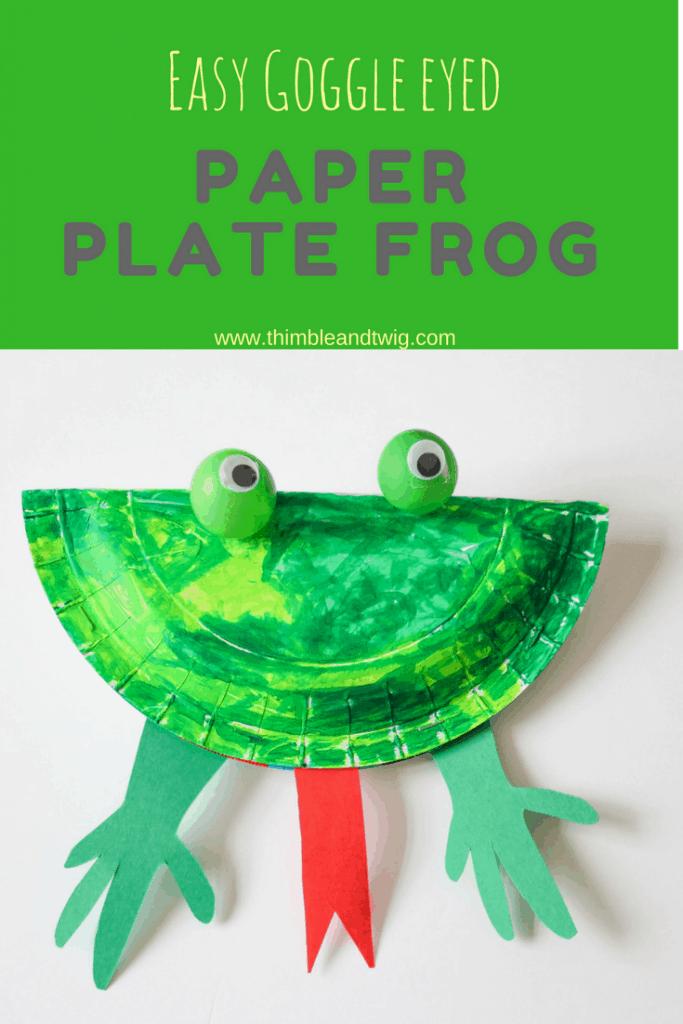 Paper Plate Frog Craft Easy 683x1024 Getfuncraft Com